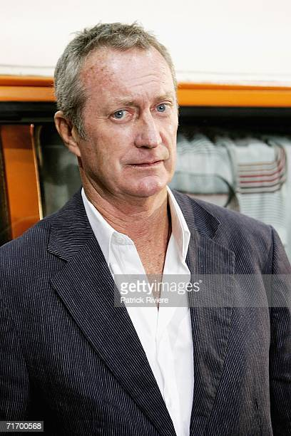 Australian actor Bryan Brown attends a media press conference to introduce the key cast of the new television production 'To Catch A Killer The...