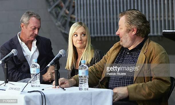 Australian actor Bryan Brown British actress Joanne Froggatt and Australian actor John Wood attend a media press conference to introduce the key cast...