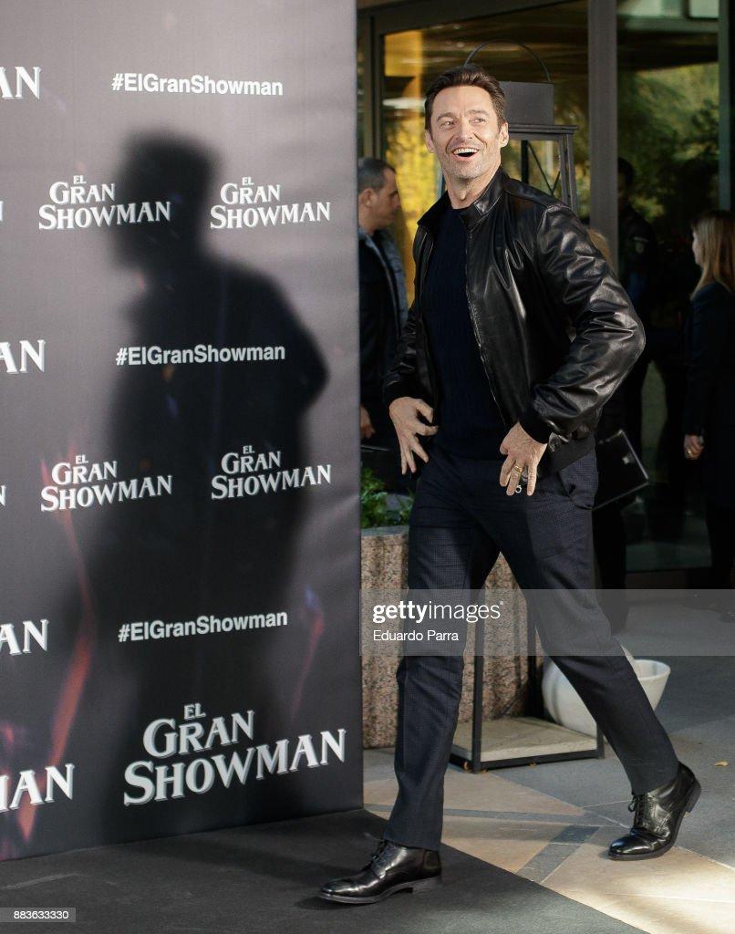 Australian actor Hugh Jackman attends the 'The Greatest Showman' ('El Gran Showman') photocall at Villamagna hotel on December 1, 2017 in Madrid, Spain.