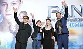 Australian actor Hugh Jackman Japanese guest Seiko Matsuda Australian actor Levi Miller and BritishAmerican film director Joe Wright attend the...