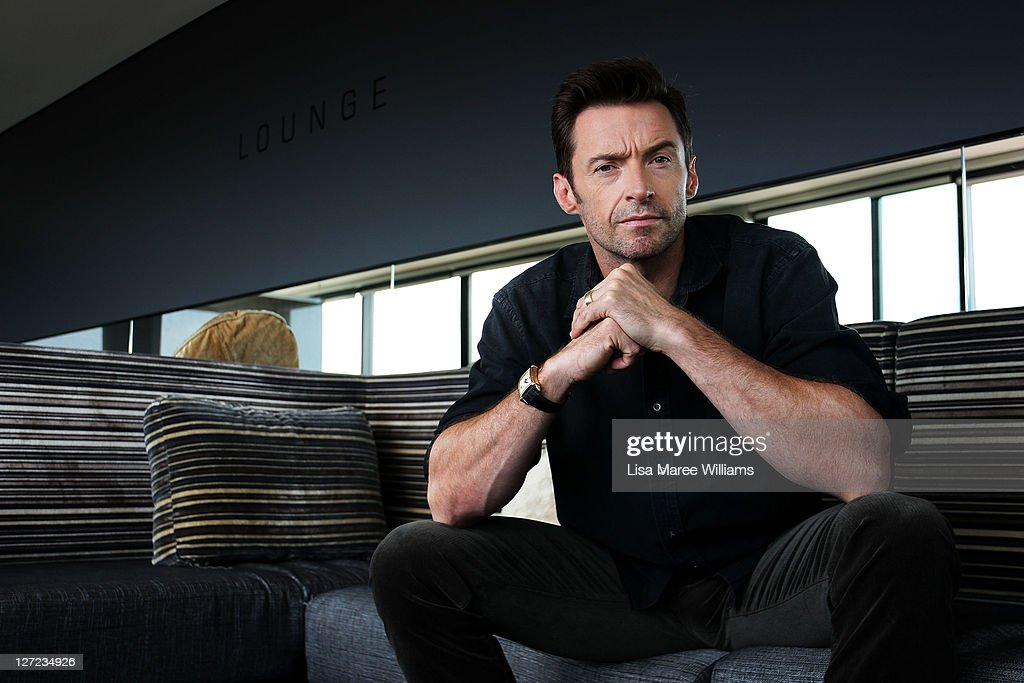 Australian actor <a gi-track='captionPersonalityLinkClicked' href=/galleries/search?phrase=Hugh+Jackman&family=editorial&specificpeople=202499 ng-click='$event.stopPropagation()'>Hugh Jackman</a> poses during a photo call to promote his new film Real Steel at the Intercontinental Hotel on September 27, 2011 in Sydney, Australia.