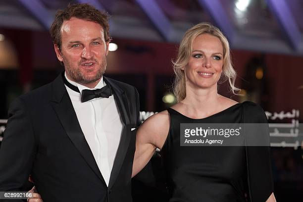 Australian actor Jason Clarke and French actress Cecile Breccia attend the closing ceremony of the 16th Marrakech International Film Festival in...