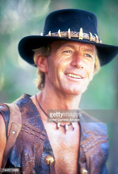 Australian actor Paul Hogan on the set of his new film 'Crocodile Dundee II' in 1987 on location in the Northern Territory Australia