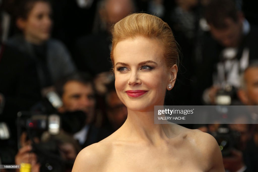 Australian actress and member of the Feature Film Jury <a gi-track='captionPersonalityLinkClicked' href=/galleries/search?phrase=Nicole+Kidman&family=editorial&specificpeople=156404 ng-click='$event.stopPropagation()'>Nicole Kidman</a> smiles on May 15, 2013 as she arrives for the screening of the film 'The Great Gatsby' ahead of the opening of the 66th edition of the Cannes Film Festival in Cannes. Cannes, one of the world's top film festivals, opens on May 15 and will climax on May 26 with awards selected by a jury headed this year by Hollywood legend Steven Spielberg. AFP PHOTO / VALERY HACHE