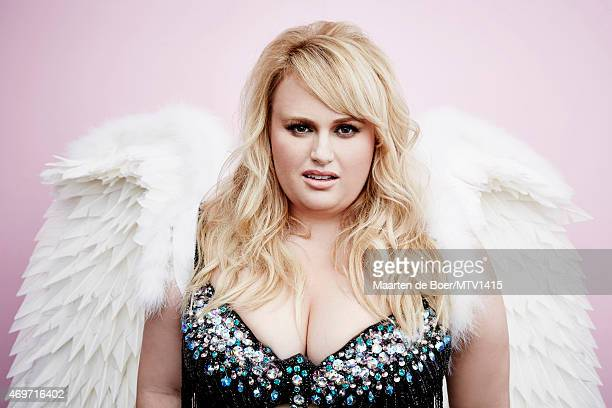 LOS ANGELES CA APRIL 12 2015 Australian actress and writer Rebel Wilson poses for a portrait at the 2015 MTV Movie Awards at Nokia Theatre LA on...