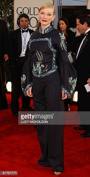 Australian actress Cate Blanchett arrives at the 59th Annual Golden Globe Awards in Beverly Hills 20 January 2002 She is nominated for Best...