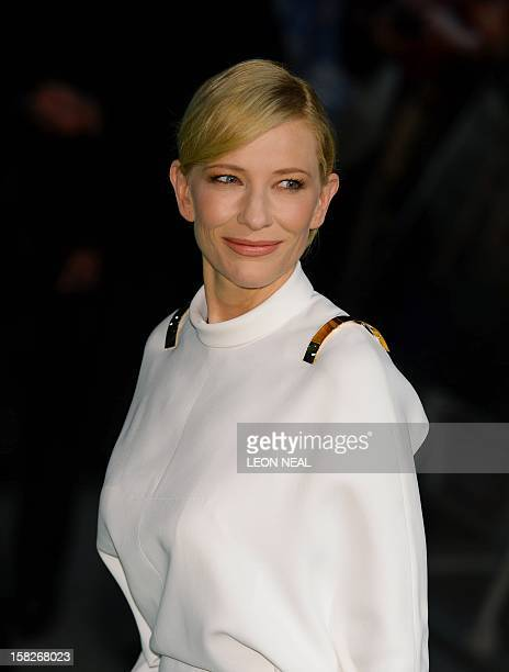 Australian Actress Cate Blanchett poses for photographers at the European premiere of the first in the new trilogy of films based on the work of J R...