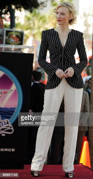 Australian actress Cate Blanchett smiles as she is honored by a star on the Hollywood Walk of Fame on December 5 2008 in Hollywood California AFP...