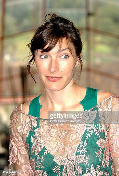Australian actress Claudia Karvan at the Arena TV live satellite presentation of the 10th Screen Actors Guild Awards at the Sydney Opera House on...