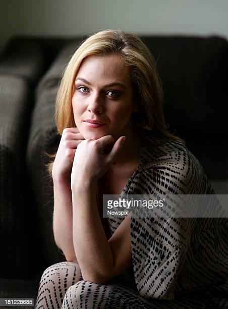 Australian actress Jessica Marais poses during a photo shoot at the Sheraton on the Park on September 13 2013 in Sydney Australia Marais is in...