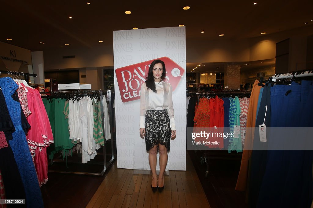 Australian actress Jessica Marais poses during the Boxing Day sales at the David Jones Market Street store on December 26, 2012 in Sydney, Australia. Boxing Day proves to be one of the busiest days for retail outlets in Sydney with thousands flocking to post-Christmas sales.