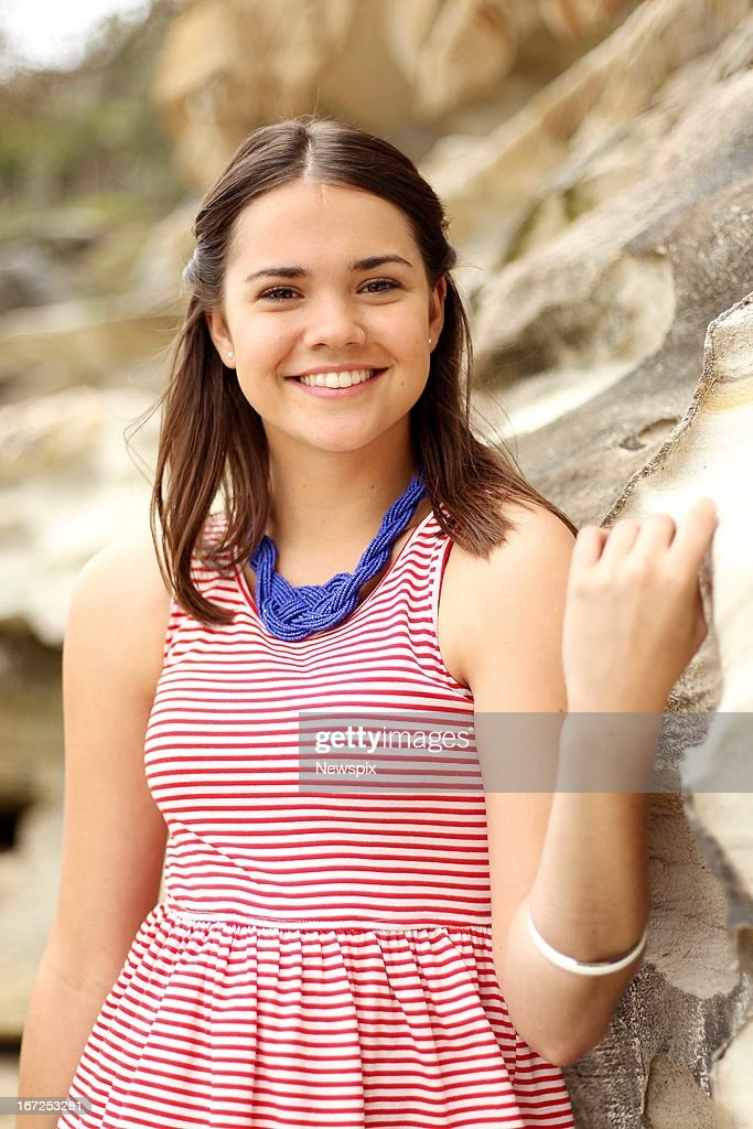 Australian actress Maia Mitchell poses during a photo shoot at Neilson Park Beach in Vaucluse on January 23, 2013 in Sydney, New South Wales, Australia.