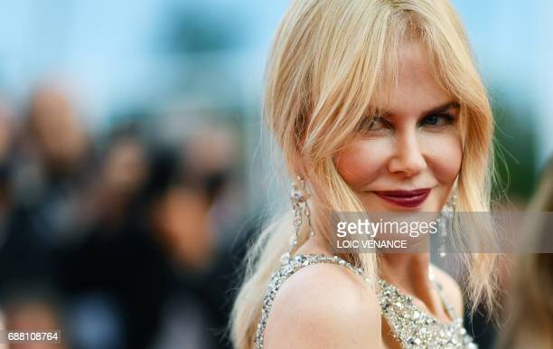 Australian actress Nicole Kidman poses as she arrives on May 24 2017 for the screening of the film 'The Beguiled' at the 70th edition of the Cannes...