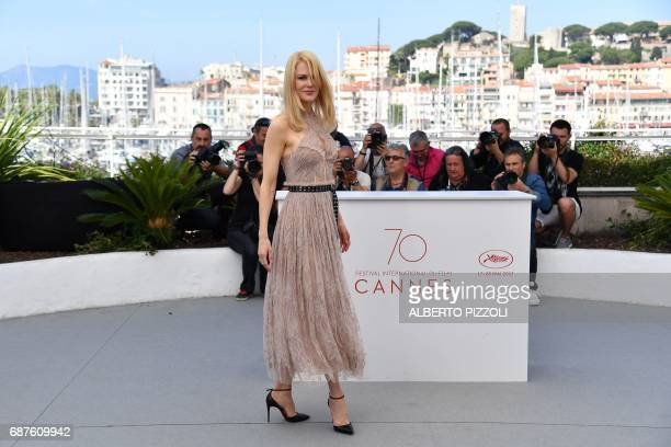 Australian actress Nicole Kidman poses on May 24 2017 during a photocall for the film 'The Beguiled' at the 70th edition of the Cannes Film Festival...
