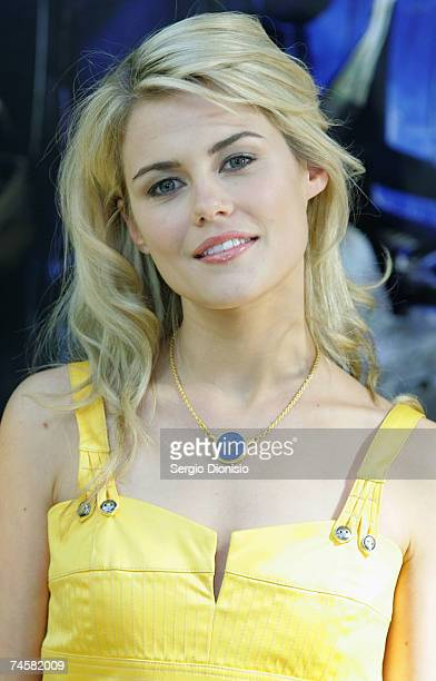 Australian actress Rachael Taylor attends the Press Conference for the new film 'Transformers' at Carriageworks on June 13 2007 in Sydney Australia