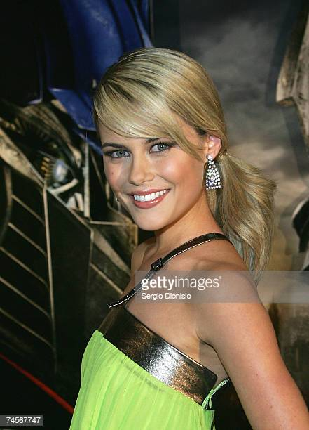 Australian actress Rachael Taylor attends the special event celebrity screening of the new film 'Transformers' at Hoyts Entertainment Quarter Moore...