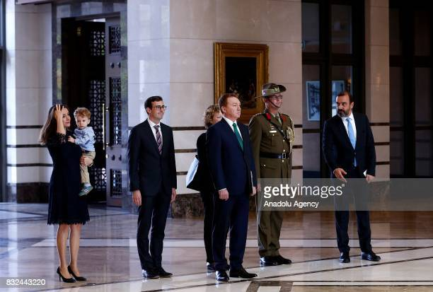 Australian Ambassador to Ankara Marc Innes Brown is seen ahead of presenting his letter of credence to Turkish President Recep Tayyip Erdogan at...