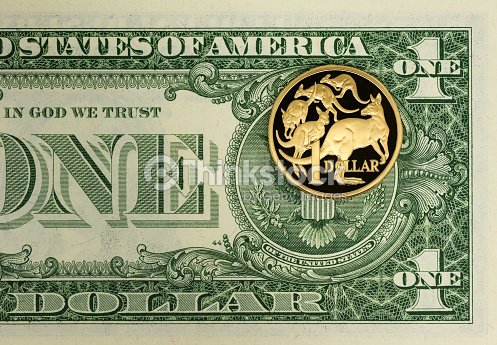 Australian And American Us Dollar Stock Photo