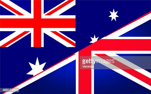 Australian and British flag