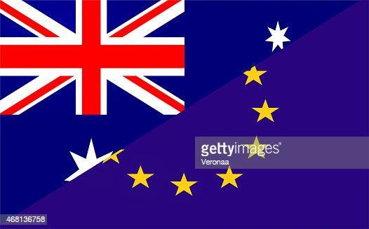 Australian  and Europe  flag