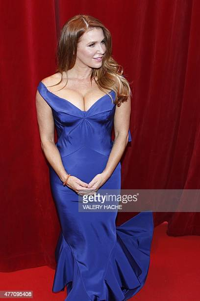 Australian and US actress Poppy Montgomery looks on during the opening ceremony of the 55th MonteCarlo Television Festival on June 13 in Monaco AFP...
