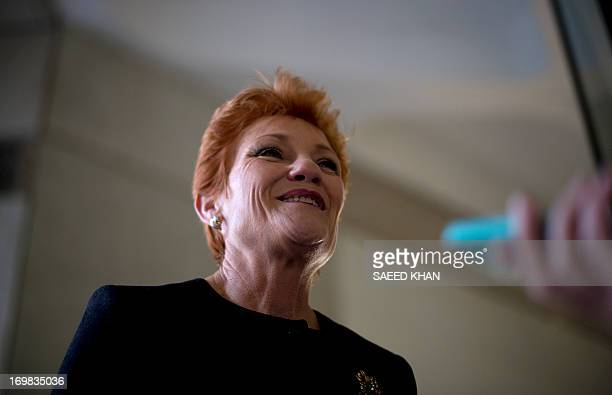 Australian antiimmigration firebrand Pauline Hanson speaks to the media in Sydney on June 3 2013 The controversial former One Nation leader who once...