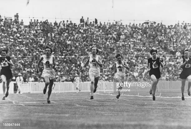 Australian athlete Marjorie Jackson wins the Women's 220 Yard final at the British Empire Games in Auckland New Zealand 15th February 1950 Also...