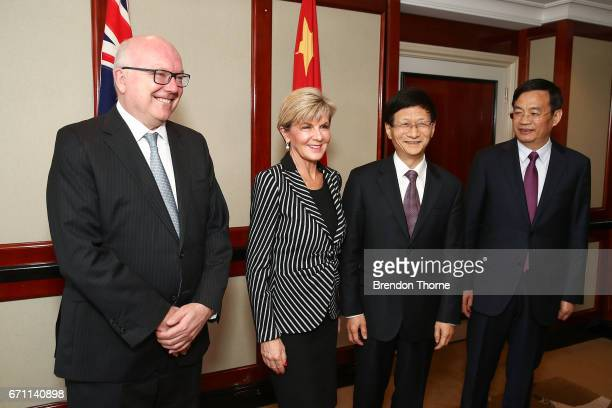 Australian Attorney General George Brandis Australian Minister for Foreign Affairs Julie Bishop Central Commission on Political and Legal Affairs...