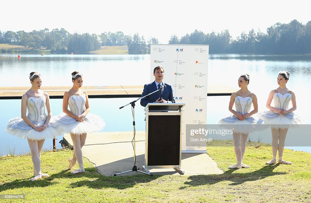 Australian Ballet Artistic Director David McAllisteraddresses the media alongside ballet dancers during a media call for the Australian Ballet at Sydney International Regatta Centre on May 6, 2016 in Sydney, Australia.