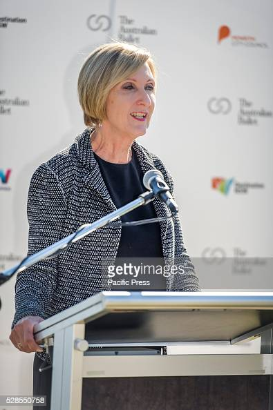 Australian Ballets Executive Director Libby Christie speaks at the The Australian Ballet launch of its community program 'Ballet Under the Stars' at...