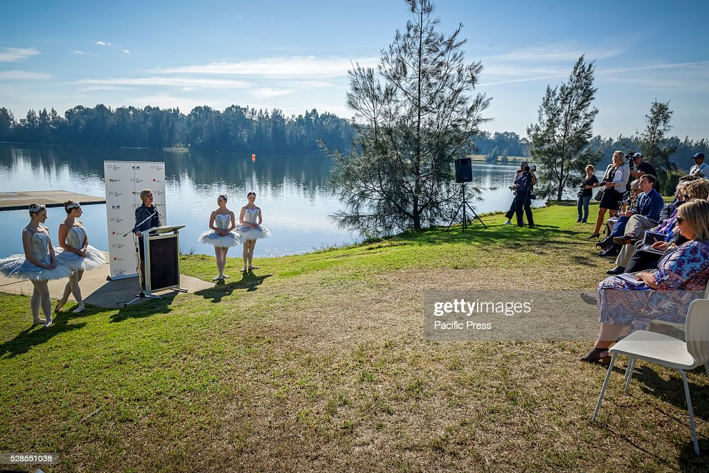 Australian Ballets Executive Director Libby Christie speaks at the The Australian Ballet launch of its community program, 'Ballet Under the Stars' at the Sydney International Regatta Centre in Penrith.