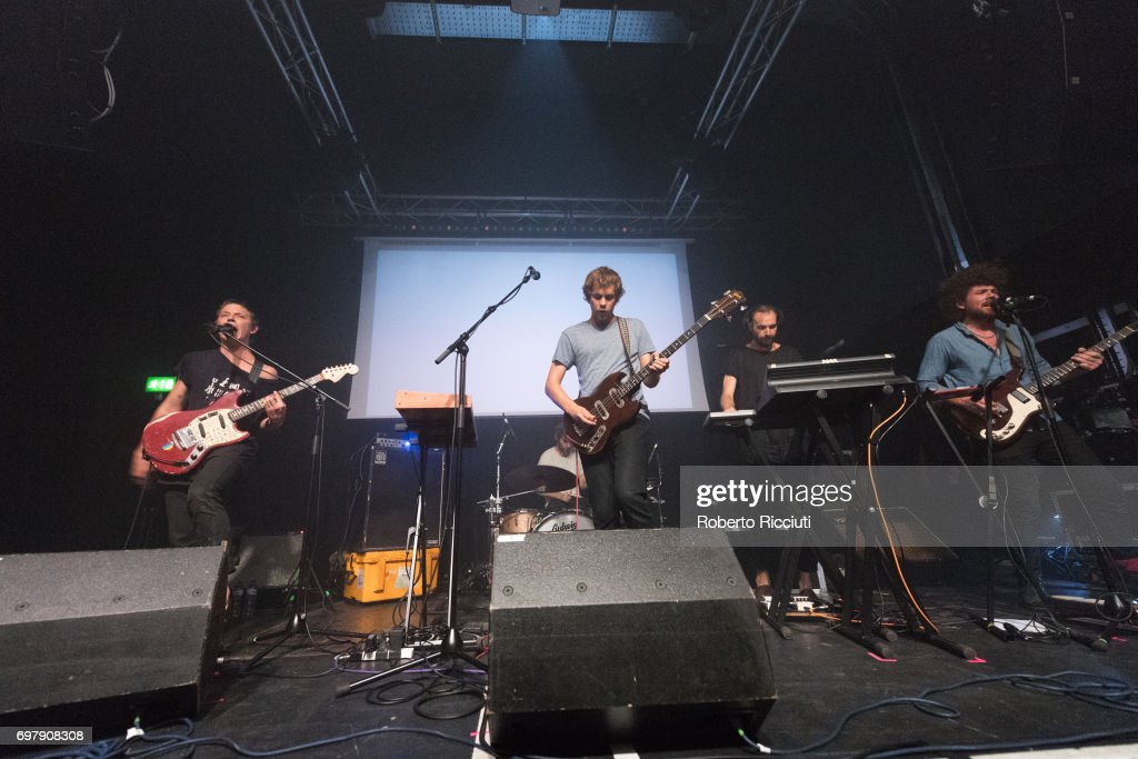 Australian band Pond perform on stage at The Art School on June 19, 2017 in Glasgow, Scotland.