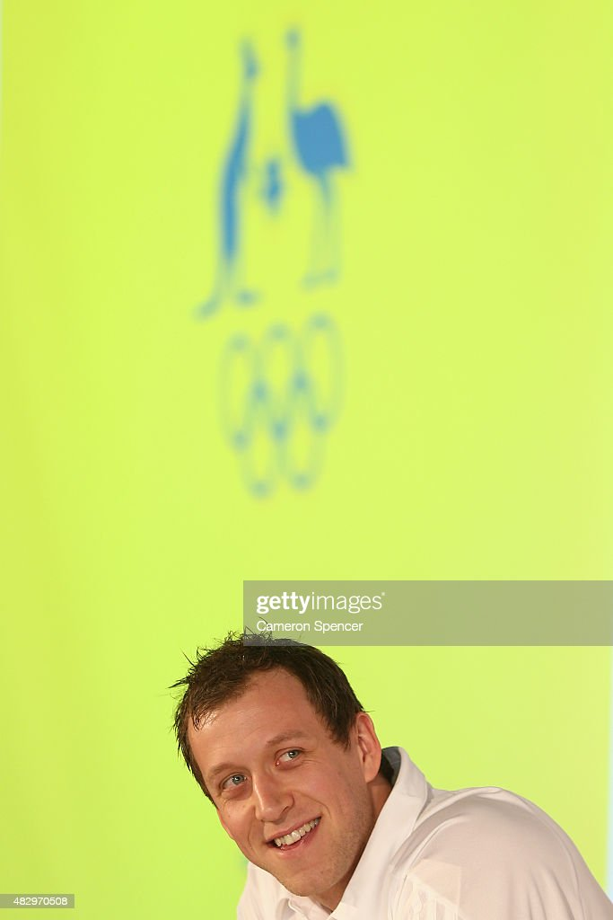 Australian basketballer <a gi-track='captionPersonalityLinkClicked' href=/galleries/search?phrase=Joe+Ingles&family=editorial&specificpeople=3868025 ng-click='$event.stopPropagation()'>Joe Ingles</a> talks to media during an Australian Olympic press conference at Museum of Contemporary Art on August 5, 2015 in Sydney, Australia.