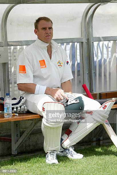 Australian batsman Matthew Hayden finds some shade during the Fourth Ashes Test match between Australia and England held at the Melbourne Cricket...