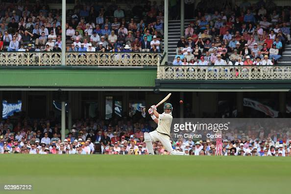 Australian batsman Matthew Hayden in action during day one of the third test match between Australia and South Africa at the Sydney Cricket Ground on...