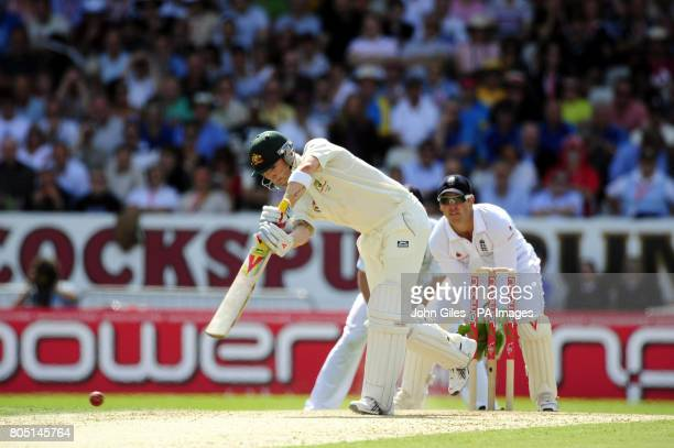 Australian batsman Michael Clarke during the fourth test at Headingley Leeds