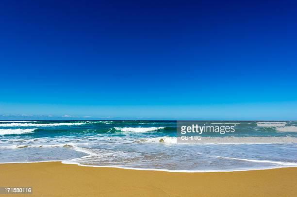 Australian Beach clear blue sky copyspace