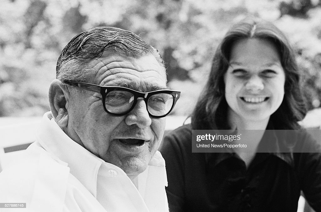 Australian businessman and mining magnate, Lang Hancock (1909-1992) pictured sitting with his daughter <a gi-track='captionPersonalityLinkClicked' href=/galleries/search?phrase=Gina+Rinehart&family=editorial&specificpeople=6657657 ng-click='$event.stopPropagation()'>Gina Rinehart</a> in London on 30th June 1977.