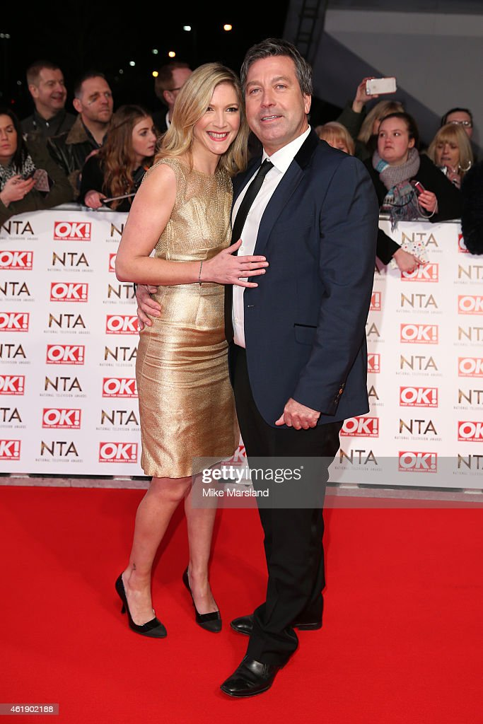 Australian celebrity chef John Torode and English actress and celebrity chef Lisa Faulkner attend the National Television Awards at 02 Arena on...