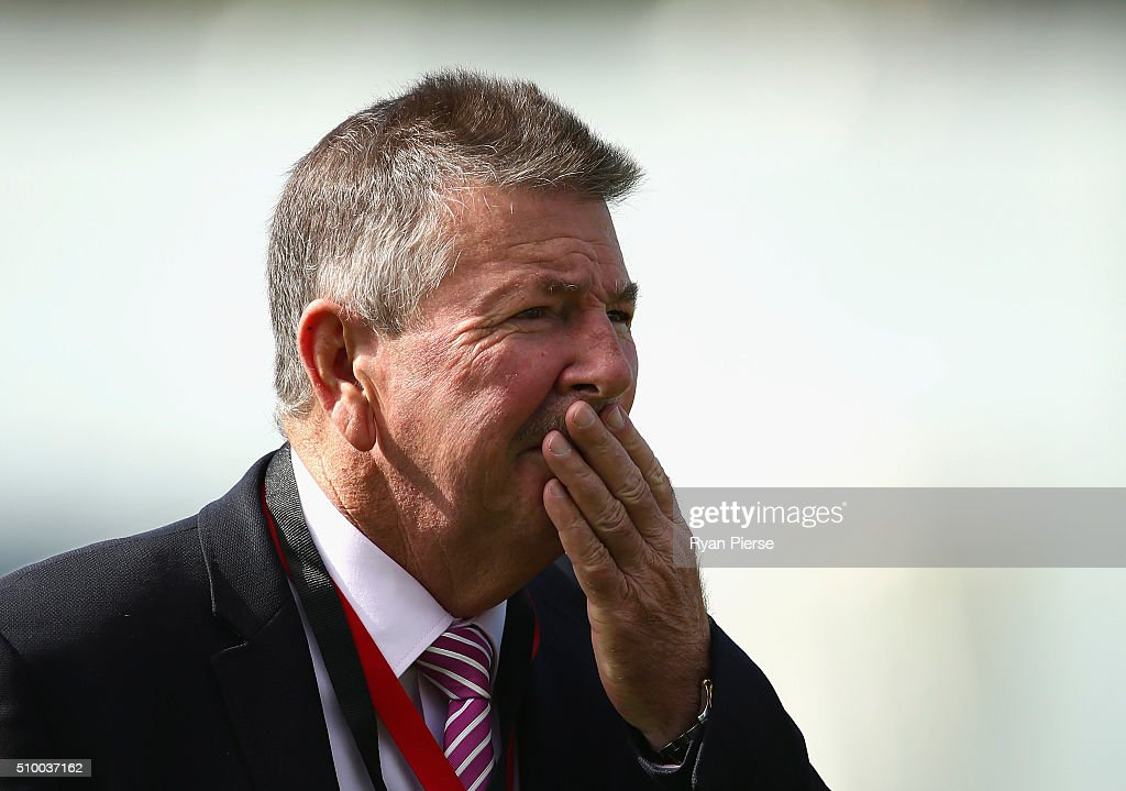 Australian Chairman of Selectors Rod Marsh looks on during day three of the Test match between New Zealand and Australia at Basin Reserve on February 14, 2016 in Wellington, New Zealand.