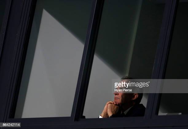 Australian Chairman of Selectors Trevor Hohns looks on during the JLT One Day Cup Final match between Western Australia and South Australia at...