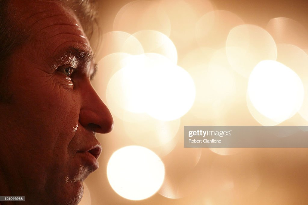 Australian coach Pim Verbeek is seen during an Australian Socceroos welcome function at the Sandton Sun Hotel on May 27, 2010 in Sandton, South Africa.