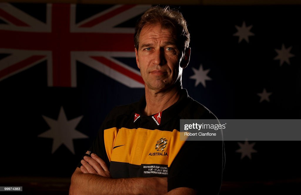 Australian coach Pim Verbeek poses for a portrait during an Australian Socceroos portrait session at Park Hyatt Hotel on May 19, 2010 in Melbourne, Australia.