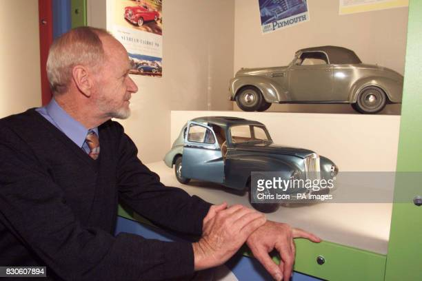 Australian collector Ian Cummins with a small part of his extensive collection of toy cars which make up the lion's share of Motoring Thru Childhood...