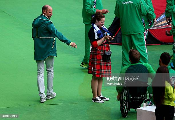 Australian Commonwealth Games chef de mission Steve Moneghetti looks on during the Closing Ceremony for the Glasgow 2014 Commonwealth Games at...