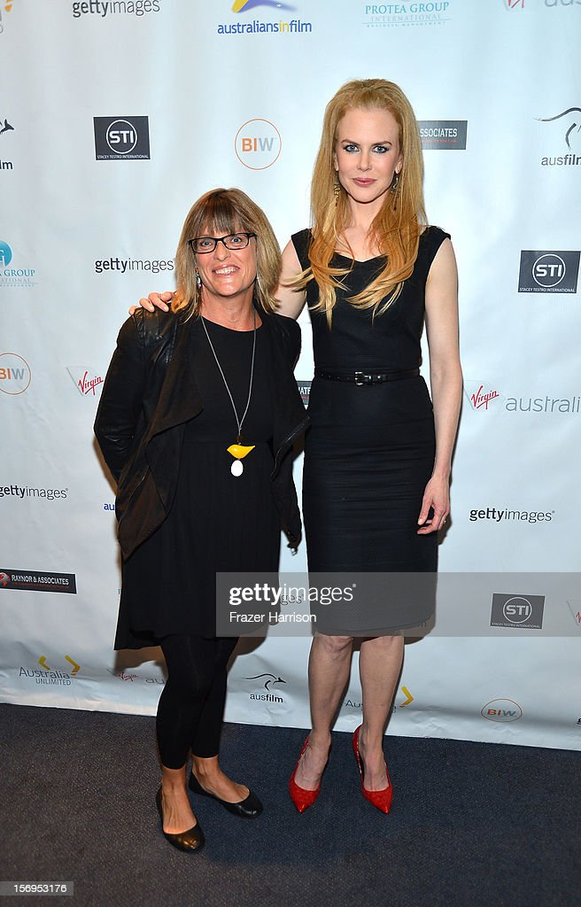 Australian Consulate-General Karen Lanyon and actress Nicole Kidman attend Australians In Film Screening of 'The Paperboy' at Harmony Gold Theatre on November 25, 2012 in Los Angeles, California.