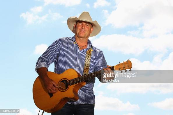 Australian country music singer James Blundell poses during preparations for 2012 Sydney Royal Easter Show at the Sydney Showground on April 4 2012...