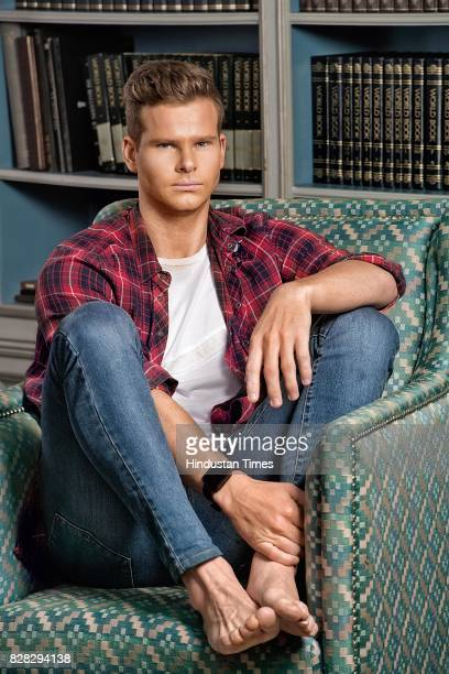 Australian cricket captain and Rising Pune Supergiant skipper Steve Smith poses for a profile shoot on May 8 2017 in New Delhi India