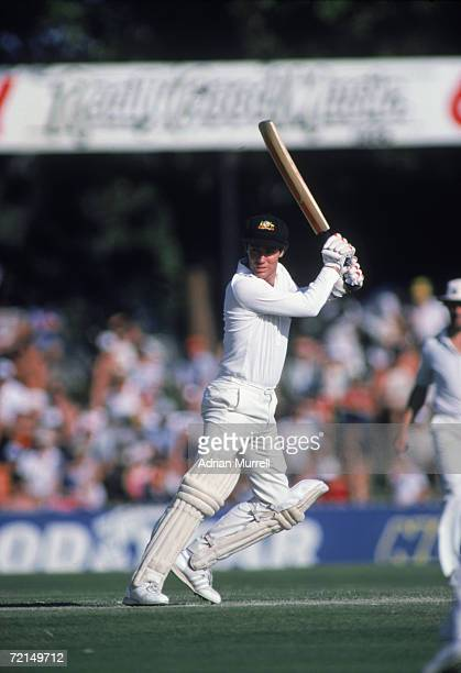 Australian cricket captain Greg Chappell batting during his century at the First Test in the Ashes series Perth Australia November 1982