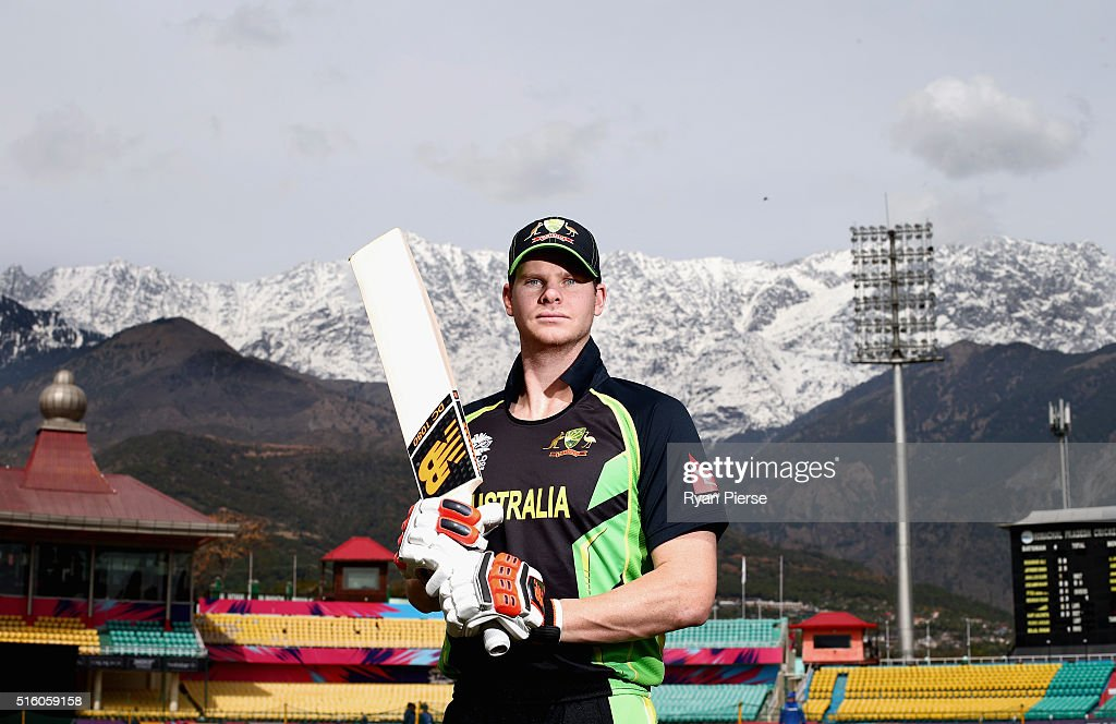 Australian cricket captain Steve Smith poses during a portrait session ahead of the ICC 2016 Twenty20 World Cup at HPCA Stadium on March 17 2016 in...